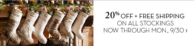 SAVE 20% + FREE SHIPPING ON ALL STOCKINGS