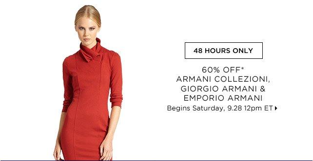 60% Off* Armani Collezioni, Giorgio Armani & Emporio Armani...Shop  Now