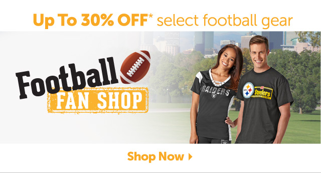 Up to 30% OFF* select football gear - Shop Now