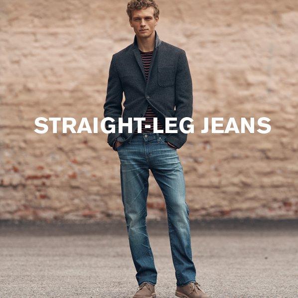 STRAIGHT-LEG JEANS
