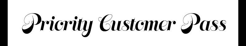 Priority Customer Pass