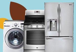 Washer, Refrigerator, Stove