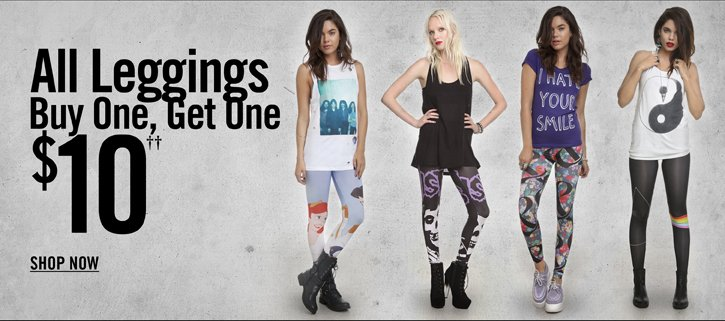 ALL LEGGINGS BUY ONE, GET ONE $10††