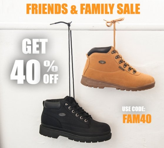 Friends & Family Get 40% Off Sitewide