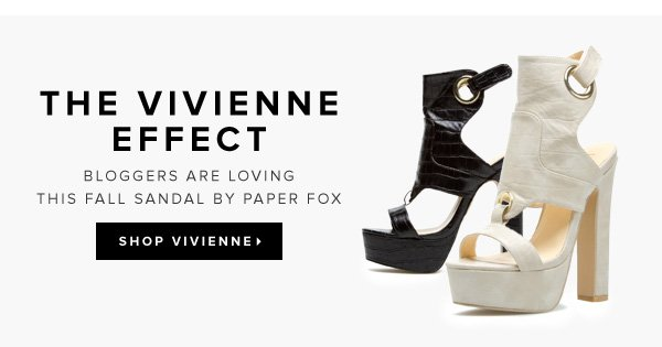 The Vivienne Effect Bloggers Are Loving This Fall Sandal by Paper Fox - - Shop Vivienne
