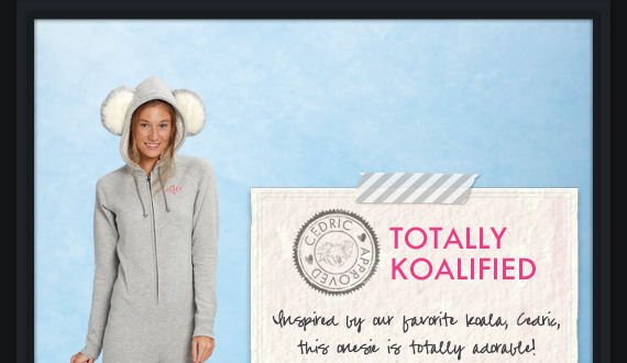TOTALLY KOALIFIED | Inspired by our favorite Koala, Cedric, this onesie is totally adorable!