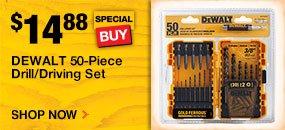 DeWalt 50 piece drill/drive set special buy $14.88 SKU 100006292