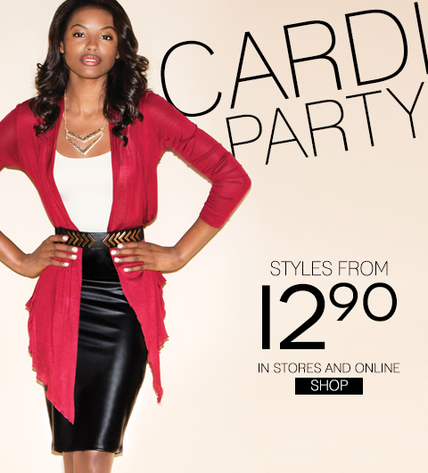 Cardigans Starting at $12.90 - Plus, take $20 off online!