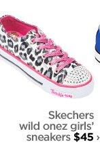 Skechers wild onez girls' sneakers $45 ›