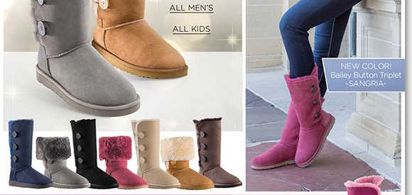 UGG Australia Bailey Button Triplet Boots free shipping view free shipping wholesale price zOJHE2fks