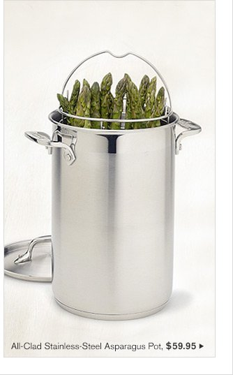 All-Clad Stainless-Steel Asparagus Pot, $59.95