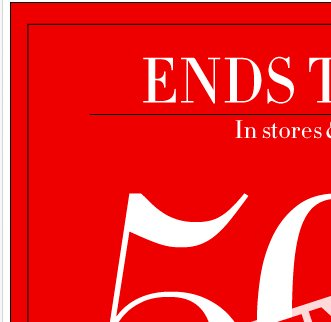 50% OFF EVERYTHING Extended, in-store & online! Shop NOW!