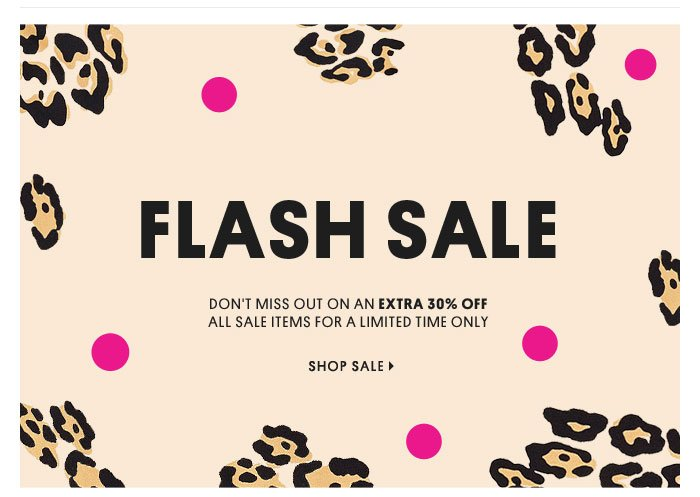 FLASH SALE - SHOP SALE