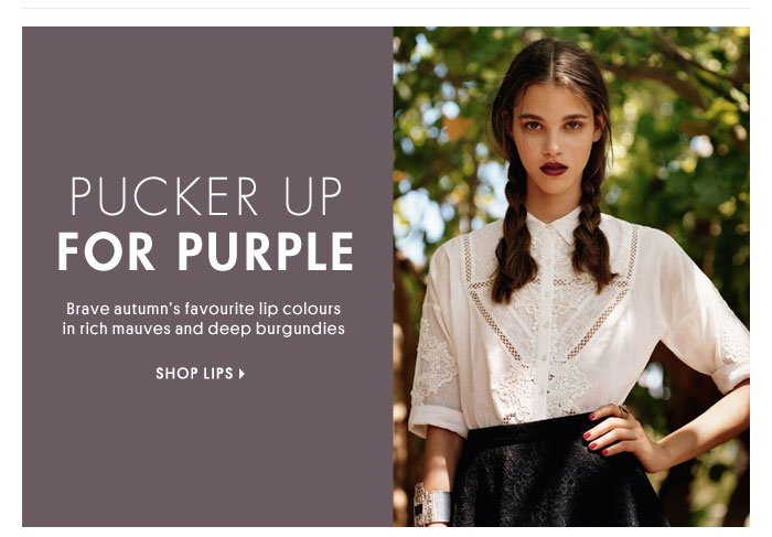 PUCKER UP FOR PURPLE - SHOP LIPS