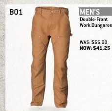 Men's Double-Front Work Dungaree