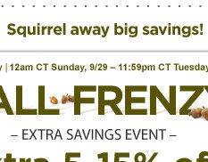 Squirrel away big savings!