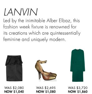 LANVIN UP TO 70% OFF