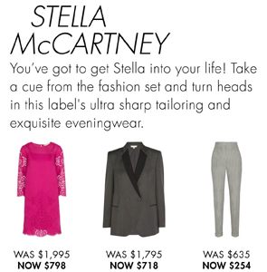 STELLA McCARTNEY UP TO 60% OFF