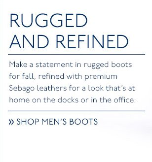 Make a statement in rugged boots for fall.