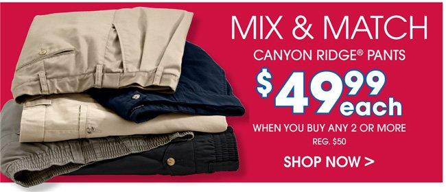 Canyon Ridge Mix and Match Pants