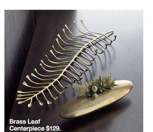 Brass Leaf Centerpiece $129.