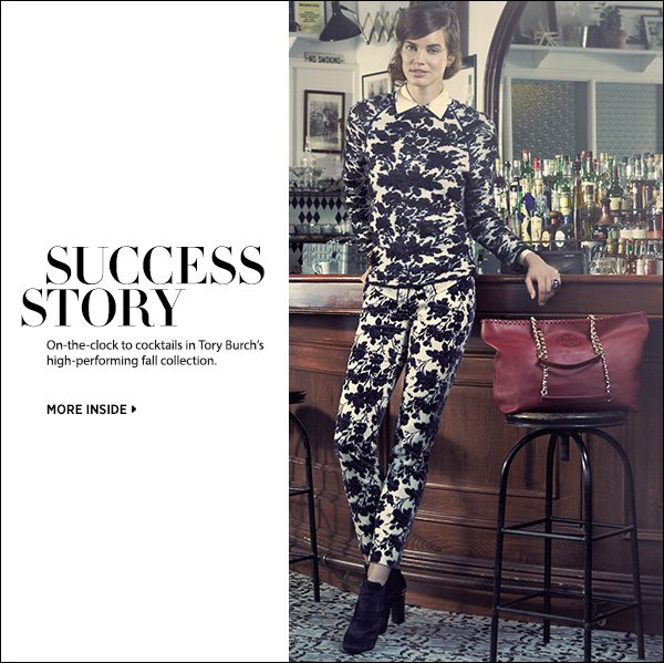 Dress for success in Tory Burch's high-performing fall collection. >>