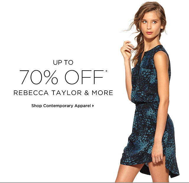 Up To 70% Off* Rebecca Taylor & More
