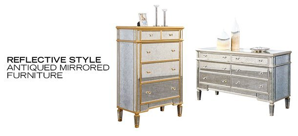 REFLECTIVE STYLE: ANTIQUED MIRRORED FURNITURE, Event Ends October 7, 9:00 AM PT >