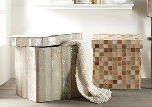 Hide it in Style: Storage Poufs