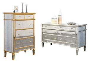 Reflective Style: Antiqued Mirrored Furniture