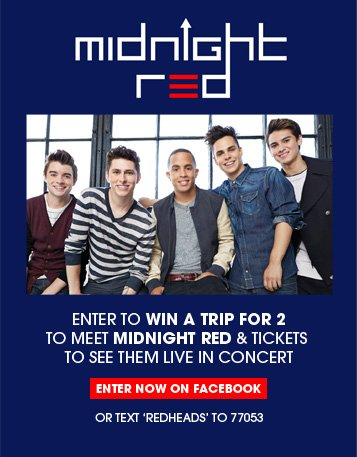 Enter to win a trip for 2 to meet Midnight Red & Tickets to see them live in concert!