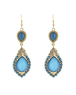 Olivia Welles Marquis Shaped Duo Teardrop Earrings