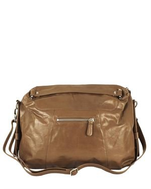 Latico Solid Color Genuine Leather Shoulder Bag