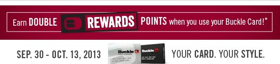 Earn Double Rewards Points*