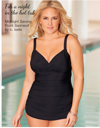 Midnight Sarong Front Swimsuit