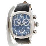 Invicta 13001 Men's Dragon Lupah Chronograph Blue Dial Black Leather Strap Watch
