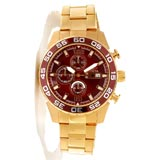 Invicta 13676 Men's Specialty Chronograph Brown Dial Gold Tone Steel Watch