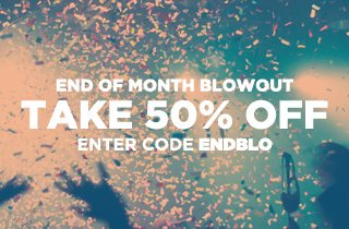 Click to shop at an extra 50% off at the end of month blowout.