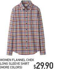 WOMEN'S CHECK FLANNEL SHIRT