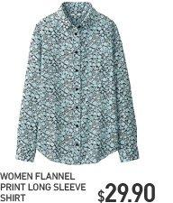 WOMEN'S PRINTED FLANNEL SHIRT