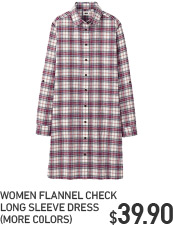 WOMEN'S CHECK FLANNEL DRESS