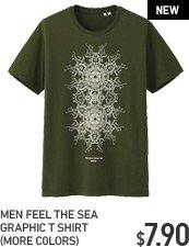MEN FEEL THE SEA GRAPHIC T SHIRT