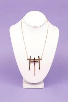 TRIPLE CROSS NECKLACE 7