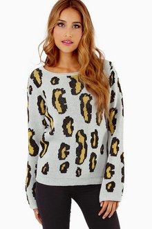 PULLOVER LEOPARD SWEATER 44
