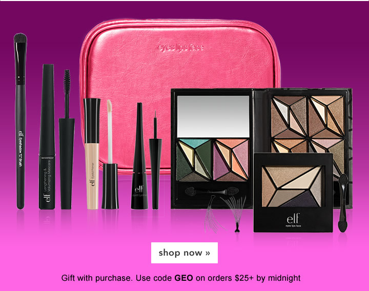 $100 value free gift! Geo Glam Collection - Use code: GEO on order $25+