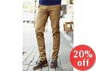 Flap-Pocket Accent Slim-Fit Pants