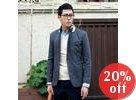 Collar-Accent Single-Breasted Blazer