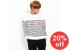 Crew-Neck Stripe Sweater