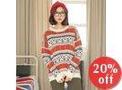 Drop-Shoulder Patterned Sweater