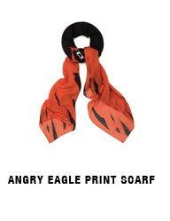 Angry Eagle Print Scarf